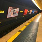 stazione di una fermata della metropolitana milanese