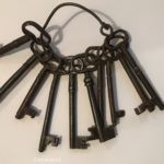 mezzo di chiavi antiche