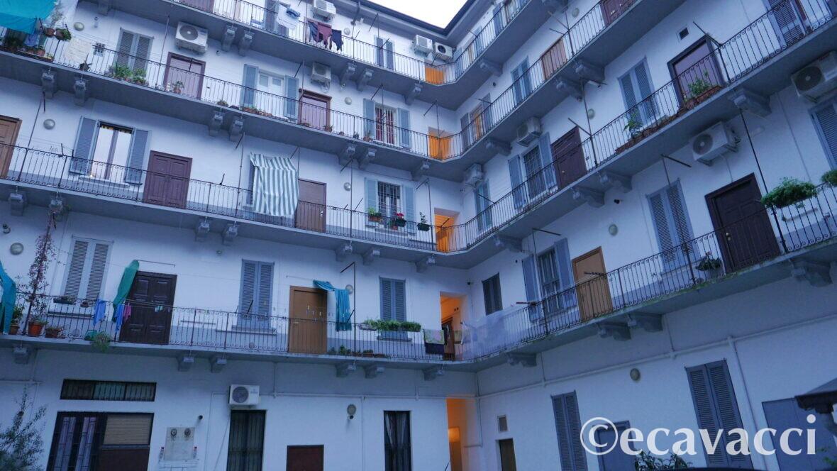 interno cortile milanese a Nolo